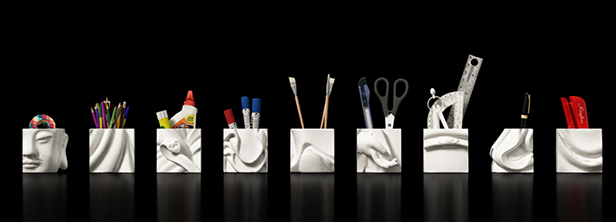 Ceramic derivative - stationery box