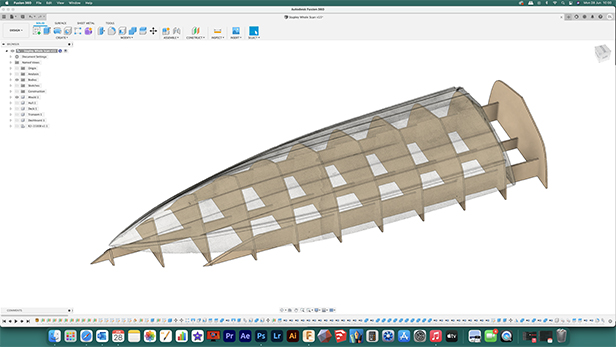Mould layout in Fusion 360