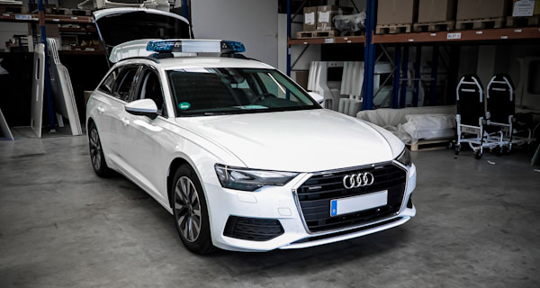 Audi A6 in the emergency vehicle production line