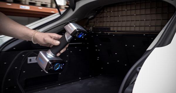 EinScan HX trunk laser scan